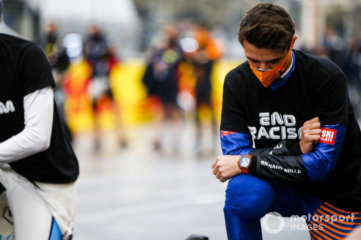 Lando Norris, McLaren y los demás pilotos apoyando la lucha contra el racismo