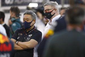 Masashi Yamamoto, Director General de Honda Motorsport, y Ross Brawn, Director General de Motorsports, FOM