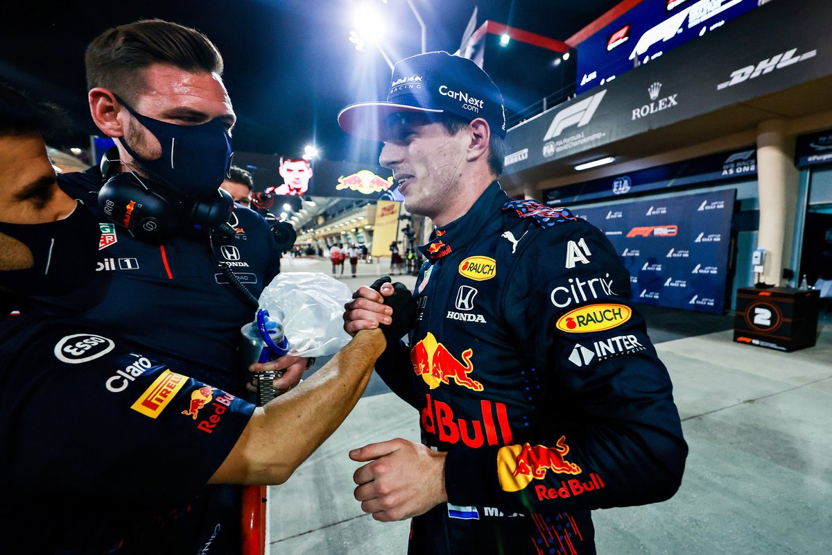Ganador de la pole position Max Verstappen, Red Bull Racing