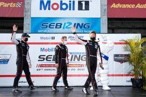 #01 Chip Ganassi Racing Cadillac DPi, DPi: Scott Dixon, Renger van der Zande, Kevin Magnussen, Driver introductions