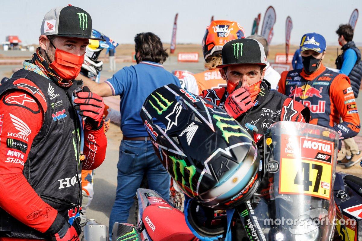 #1 Monster Energy Honda Team: Ricky Brabec, #47 Monster Energy Honda Team: Kevin Benavides