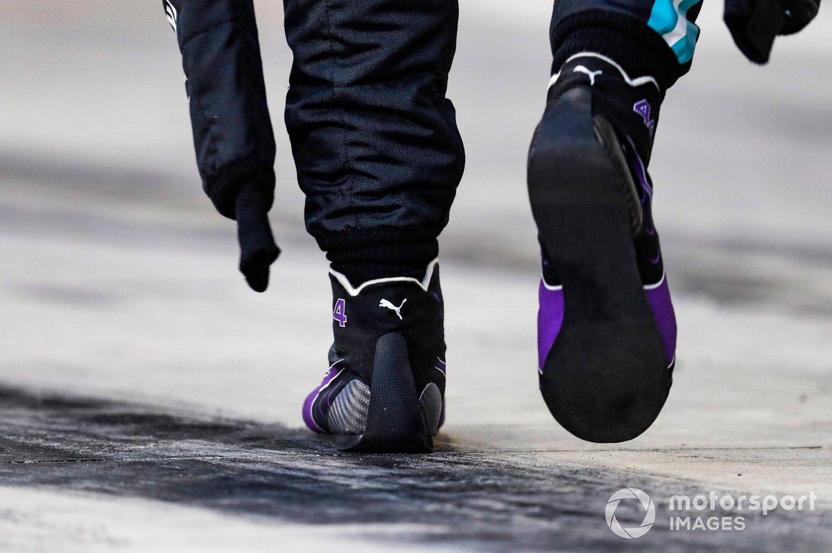 El calzado de Lewis Hamilton, Mercedes-AMG F1