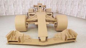 Une F1 totalement construite en carton
