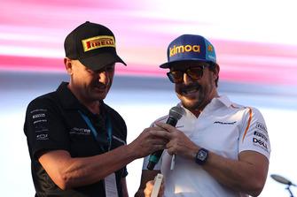 Fernando Alonso, McLaren on stage