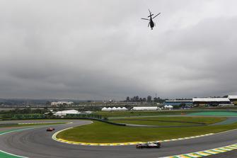 Romain Grosjean, Haas F1 Team VF-18 and helicopter