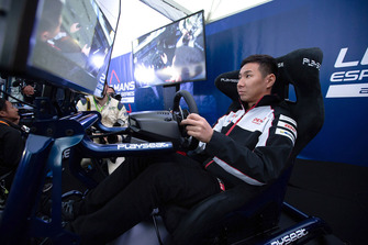 Kamui Kobayashi, Toyota Gazoo Racing on a simulator