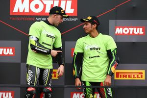 Winner Jonathan Rea, Kawasaki Racing, third place Toprak Razgatlioglu, Kawasaki Puccetti Racing