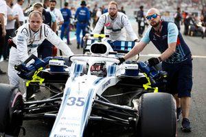 Sergey Sirotkin, Williams FW41, arrive sur la grille