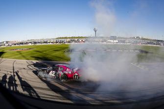 John Hunter Nemechek, Chip Ganassi Racing, Chevrolet Camaro Chevrolet Fire Alarm Services, Inc. celebrates