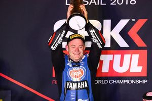 Podium: race winne Lucas Mahias, GRT Yamaha Official WorldSSP Team