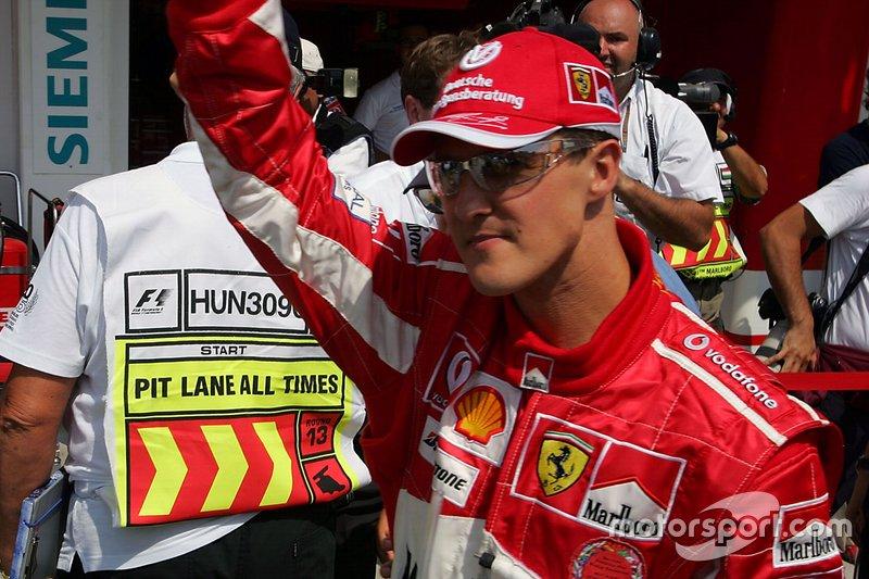 10. Ungarn 2005, Michael Schumacher vor Juan Pablo Montoya - 0,897 Sekunden