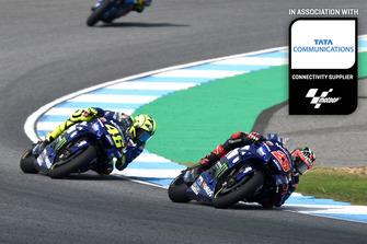 Maverick Viñales, Valentino Rossi, Yamaha Factory Racing Thailand GP Tata Communications feature