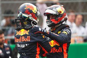 Polesitter Daniel Ricciardo, Red Bull Racing, second place Max Verstappen, Red Bull Racing