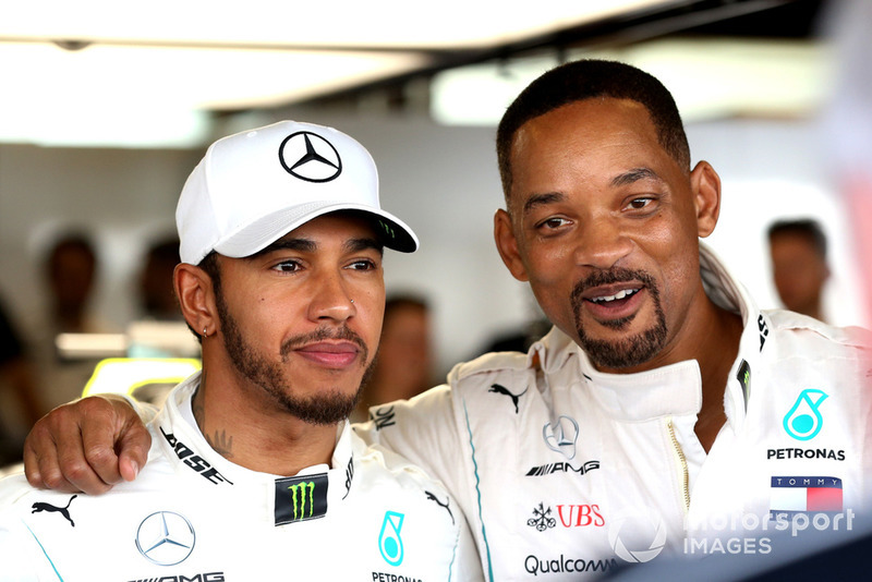 Lewis Hamilton, Mercedes AMG F1 and Will Smith