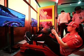 Kimi Raikkonen, Ferrari en el simulador