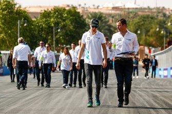 Stoffel Vandoorne, HWA Racelab, walks the track