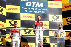 Podium: Winnaar René Rast, Audi Sport Team Rosberg, nummer twee Robin Frijns, Audi Sport Team Abt Sportsline, nummer drie Timo Glock, BMW Team RMG
