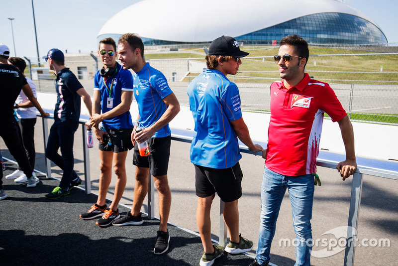 Alessio Lorandi, Trident, Luca Ghiotto, Campos Racing, Roberto Merhi, Campos Racing, Antonio Fuoco, Charouz Racing System