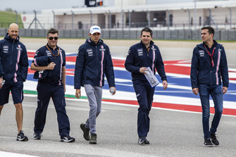 Esteban Ocon, Racing Point Force India F1 Team walks the track