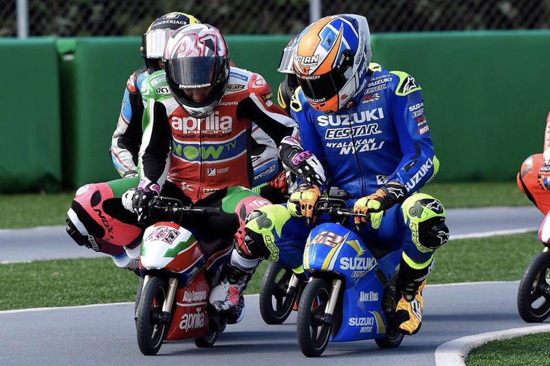 Aleix Espargaro, Aprilia Racing Team Gresini, Alex Rins, Team Suzuki MotoGP, carrera de minimotos