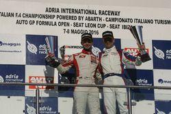 Podio gara 1, Roberto Colciago, AGS, Honda Civic TCR 2015-TCR
