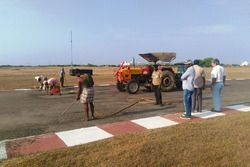 Work on repaving the track with Vicky Chandhok