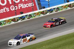 Reed Sorenson, Premium Motorsports, Chevrolet; Kurt Busch, Stewart-Haas Racing, Chevrolet