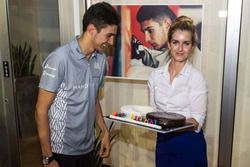 Esteban Ocon, Manor celebrates his 20th birthday