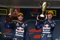 Podyum 1. Jamie Whincup, Triple Eight Race Engineering Holden, 2. Shane van Gisbergen, Triple Eight