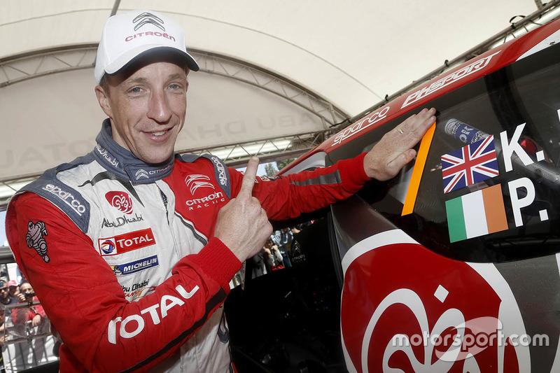 Il vincitore Kris Meeke, Citroën World Rally Team