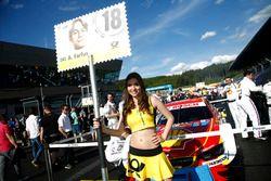 Grid girl of Augusto Farfus (BRA) BMW Team MTEK, BMW M4 DTM. 21.05.2016, DTM Round 2, Spielberg, Au