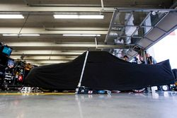 The car of Tyler Reddick, Brad Keselowski Racing Ford sits covered in the garage prior to practice