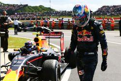 Daniel Ricciardo, Red Bull Racing with team mate Max Verstappen, Red Bull Racing RB12 in parc ferme