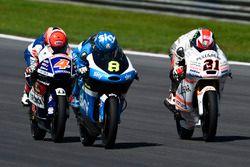 Nicolo Bulega, SKY Racing Team VR46, KTM; Francesco Bagnaia, Aspar Team Mahindra, Mahindra; Fabio Di