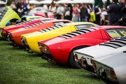 A row of Lamborghini Miura