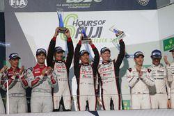 Podium: race winners #6 Toyota Racing Toyota TS050 Hybrid: Stéphane Sarrazin, Mike Conway, Kamui Kob