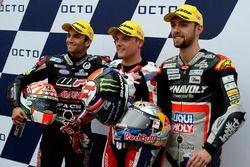 Polesitter Sam Lowes, Federal Oil Gresini Moto2, second place Johann Zarco, Ajo Motorsport, third position Jonas Folger, Dynavolt IntactGP