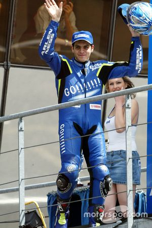 Podium: third place Alex Barros, Yamaha Tech 3