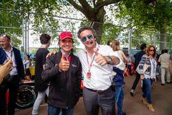 Emerson Fittipaldi und Alejandro Agag, Formel E CEO