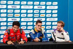 Pressekonferenz: Lucas di Grassi, ABT Schaeffler Audi Sport; Sébastien Buemi, Renault e.Dams; Sam Bi