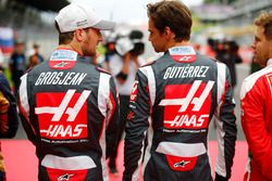 Romain Grosjean, Haas F1 Team VF-16, Esteban Gutierrez, Haas F1 Team VF-16