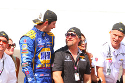 Race winner Alexander Rossi, Herta - Andretti Autosport Honda, Michael Andretti
