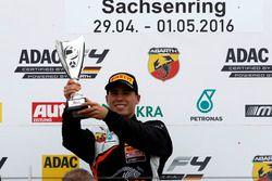 Podium: Winner Joseph Mawson, Van Amersfoort Racing
