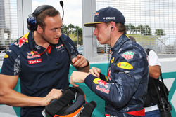 Max Verstappen, Red Bull Racing on the grid with Jake Aliker, Personal Trainer