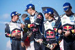 Sébastien Ogier, Julien Ingrassia, Volkswagen Polo WRC, Volkswagen Motorsport; Andreas Mikkelsen, An