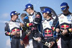 Себастьен Ожье и Жюльен Инграссиа, Volkswagen Polo WRC, Volkswagen Motorsport; Андреас Миккельсен и