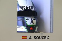 Helmet of Andy Soucek, Bentley Team M-Sport