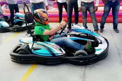 Sachin Tendulkar at the inauguration of Sky Kart