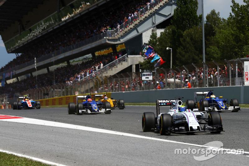 Felipe Massa, saindo do 18º lugar, fez uma boa prova de recuperação.