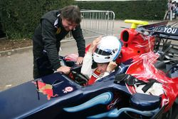 Rene Arnoux and Nick Mason